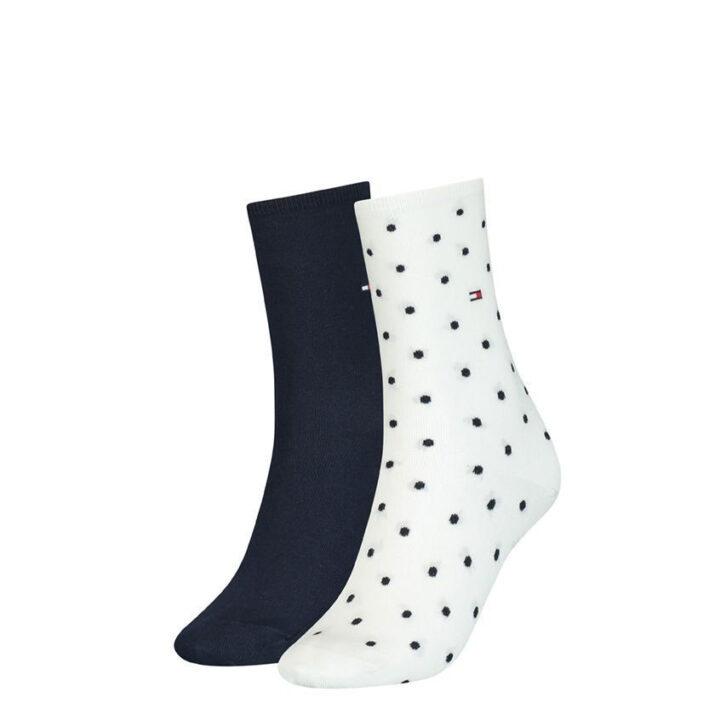 Γυναικείες Κάλτσες 2pack Tommy Hilfiger 100001493-002 Μπλε Σκούρο Εκρού