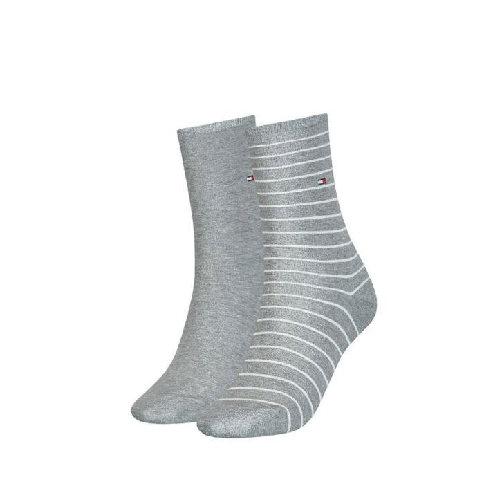 Γυναικείες Ψηλές Κάλτσες 2pack Tommy Hilfiger 100001494-006 Γκρι Ανοιχτό