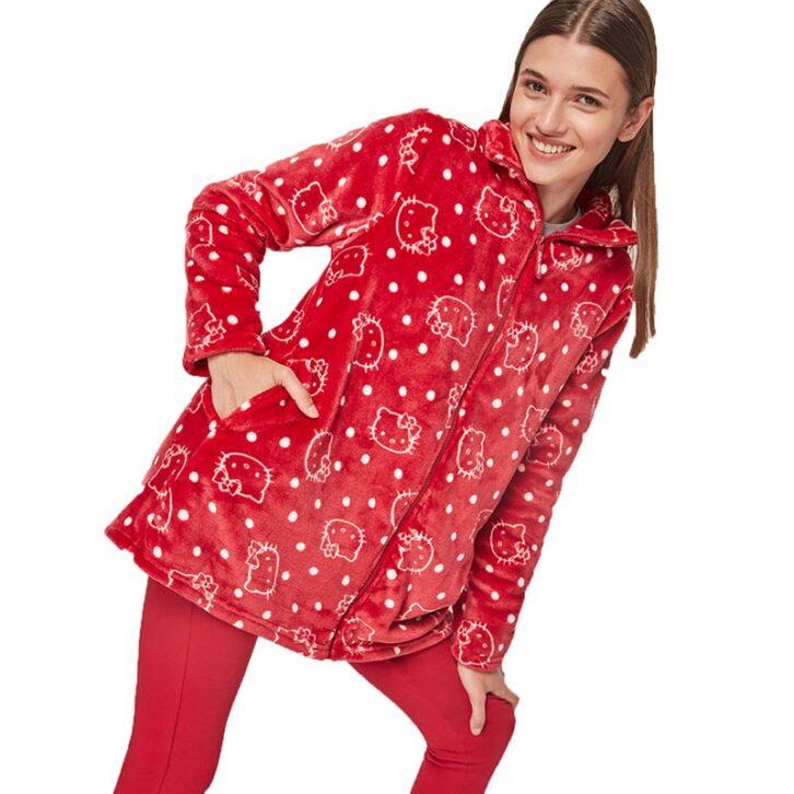 Γυναικεία Fleece Ρόμπα Hello Kitty Gisela 2/1848 Κόκκινο