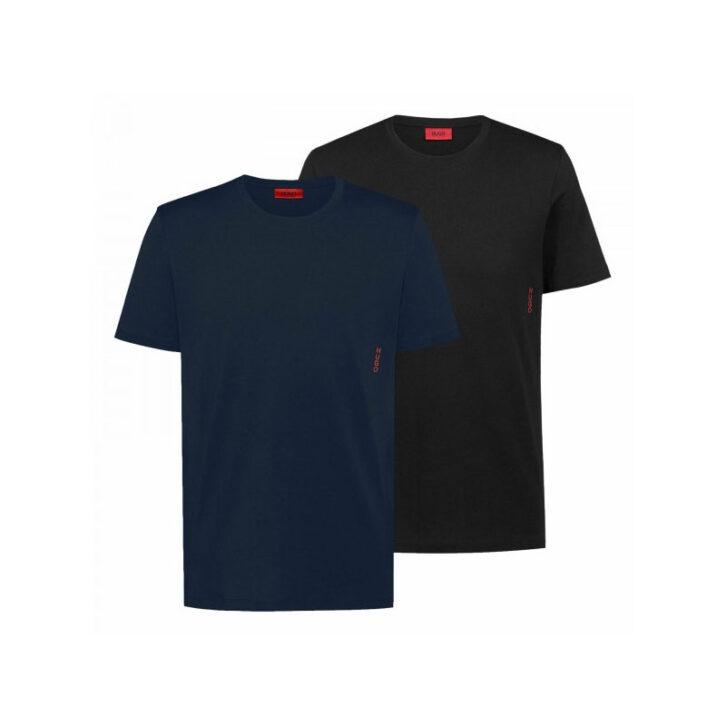 Ανδρικό T-Shirt Regular Fit Hugo Boss 2pack 50408203-463 Μαύρο Μπλε Σκούρο