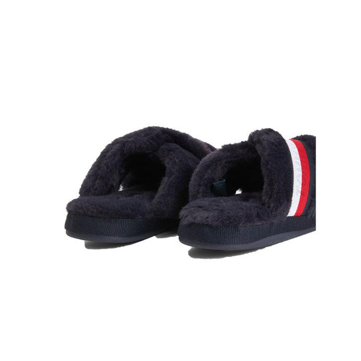 Γυναικείες Faux Fur Παντόφλες Tommy Hilfiger FW0FW06314-0GY Μπλε Σκούρο