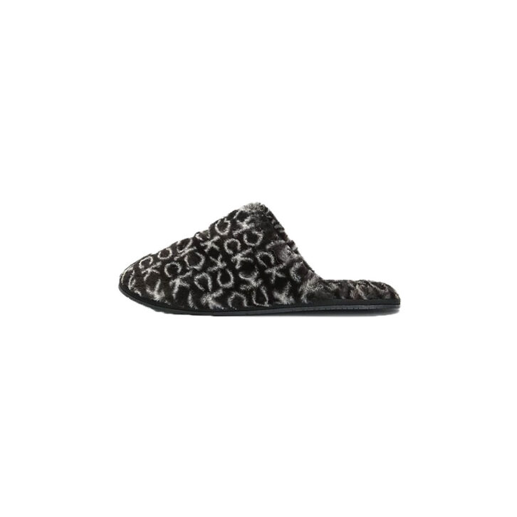 Γυναικείες Faux Fur Παντόφλες Calvin Klein HW0HW00536-0GK Μαύρο