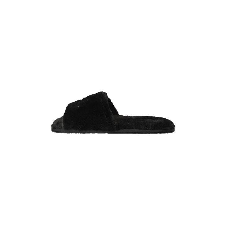 Γυναικείες Faux Fur Παντόφλες Calvin Klein HW0HW00634-BAX Μαύρο