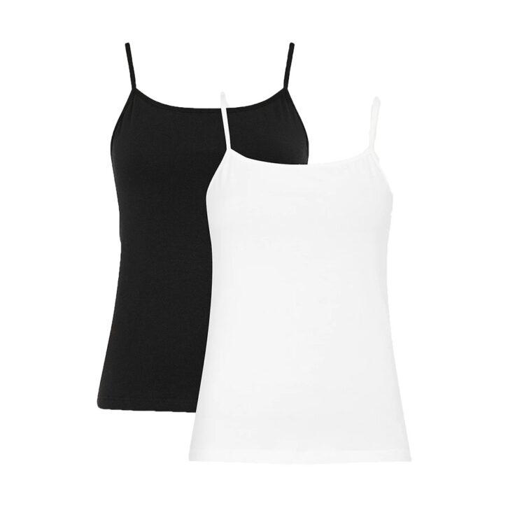Γυναικείο Τοπ με Τιράντα 2pack Tommy Hilfiger UW0UW03252-0W3 Λευκό Μαύρο