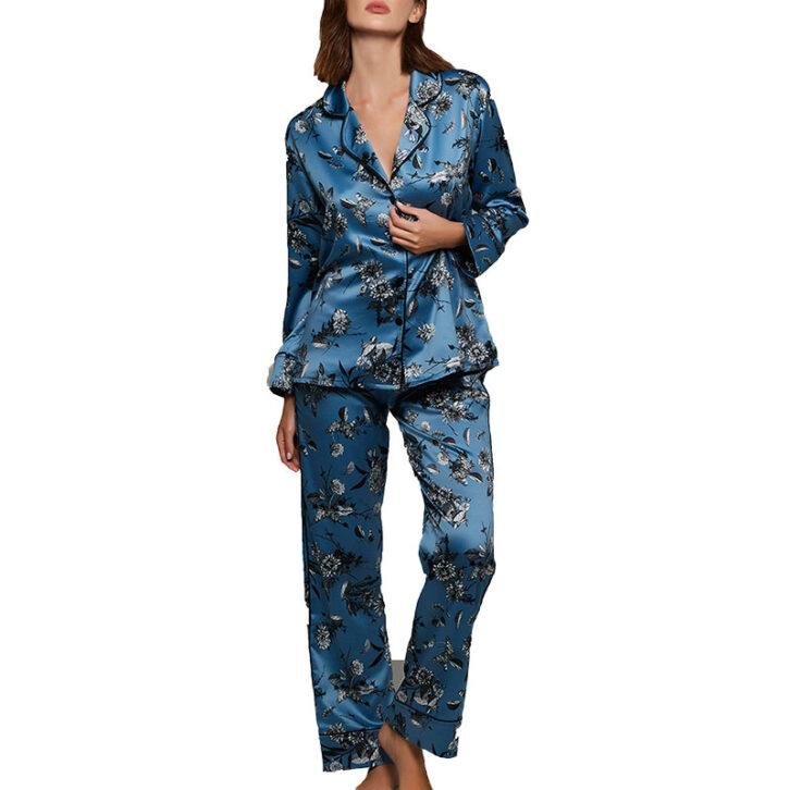 Γυναικεία Σατέν Πυτζάμα-Homewear με Ζωνάκι Lida 3209 Μαύρο